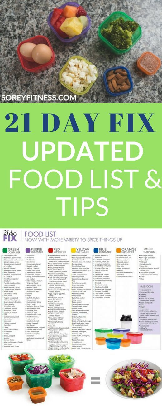 New 21 Day Fix Food List Printable - Plus 11 Simple Tips to Meal Prep #diet
