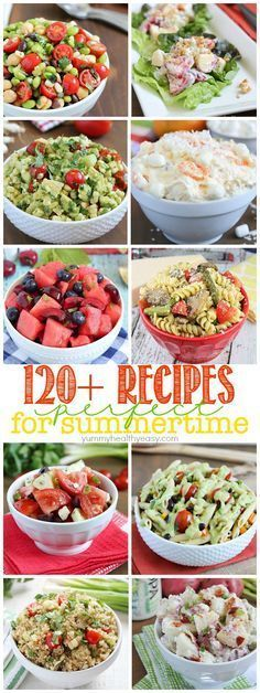 Get ready for those summer BBQ's and get togethers with this list of more than 120 recipes for summer! #familypicnicfoods