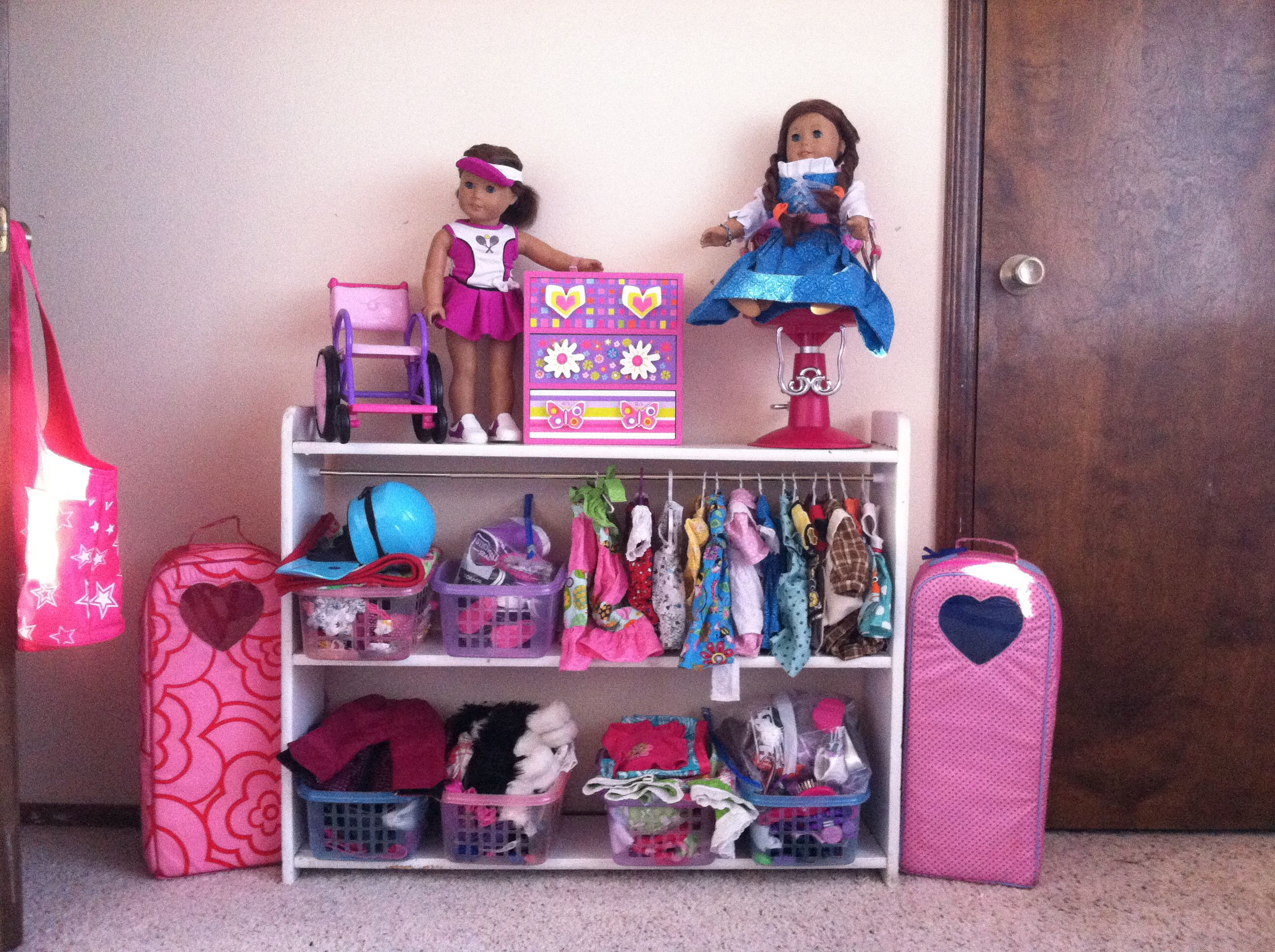 Alexis Kate s american girl storage area