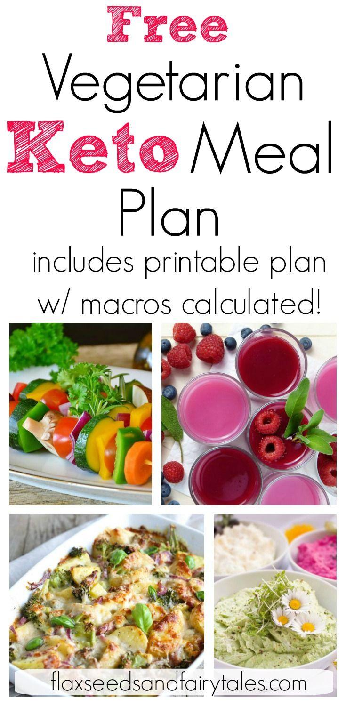 7 Day Vegetarian Keto Meal Plan #ketomealplan