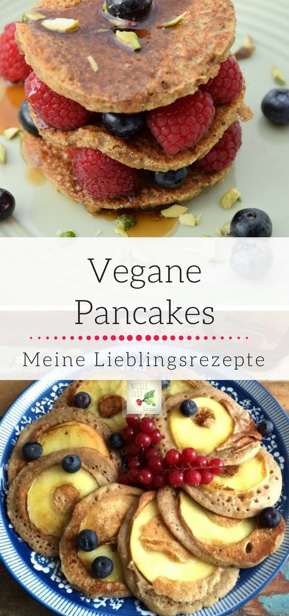 Vegane Pancakes: 3 fluffige, gesunde Rezepte ohne Milch und Ei