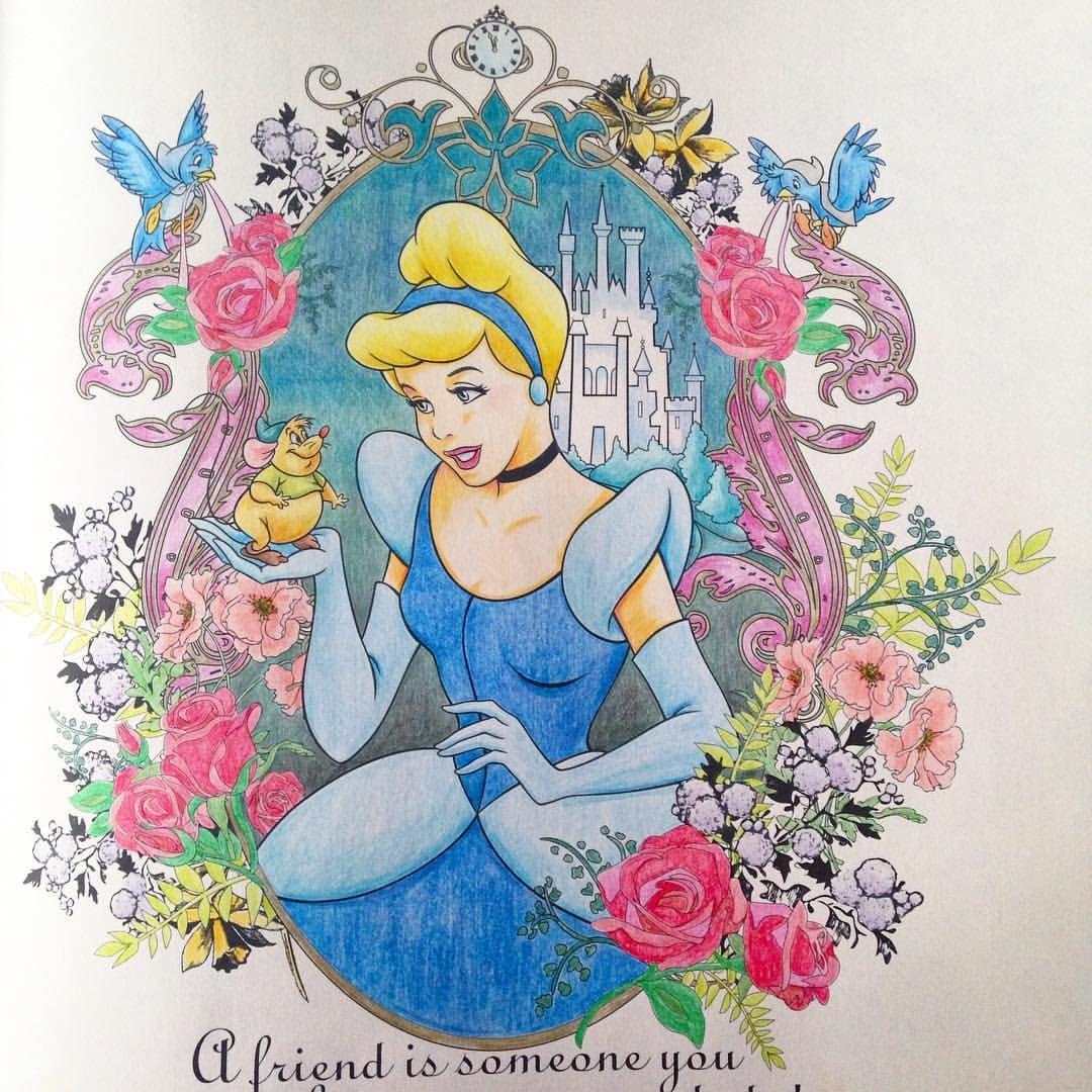 シンデレラ 今週この本ばっかり塗ってたなぁ プリンセスはやっぱり塗っ
