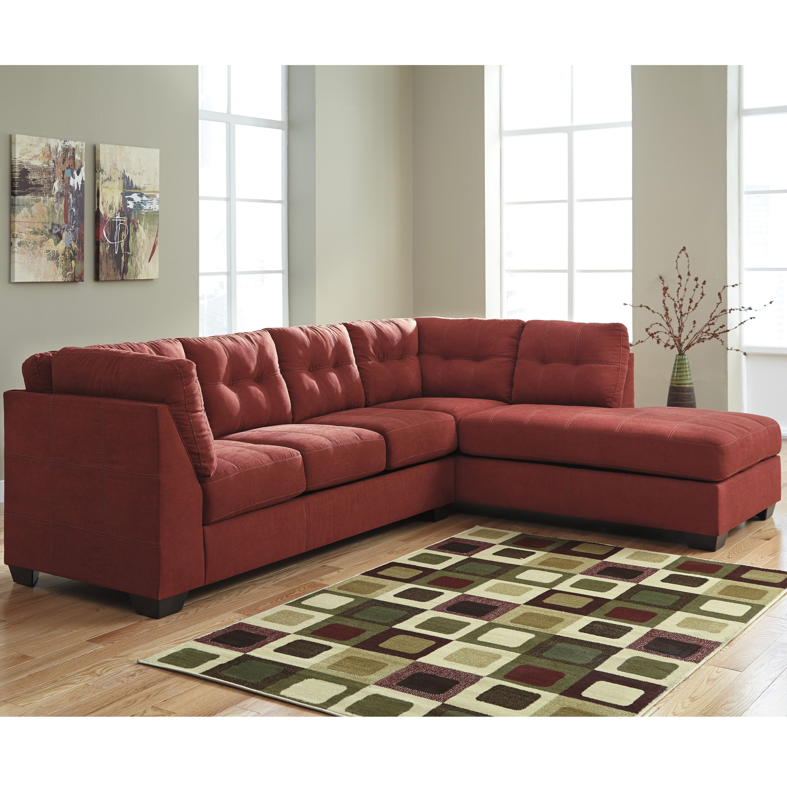 Flash Furniture Benchcraft Maier Microfiber Sectional with Right