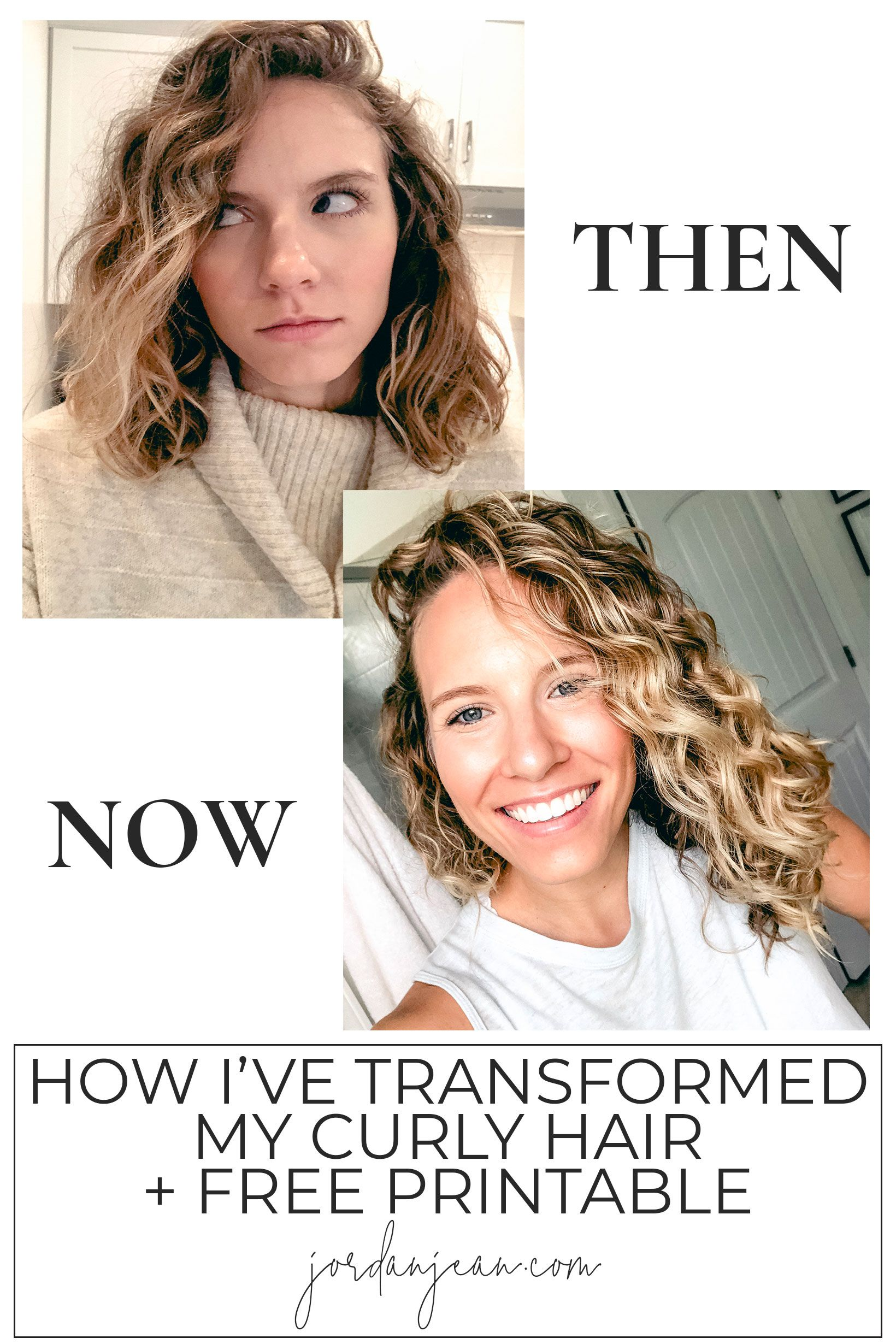 How I Ve Transformed My Curly Hair Free Printable With Images