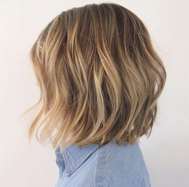 One Length Women S Haircut Pinterest Hair Bronde