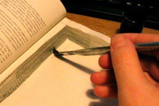 How to hollow out a book for a secret hiding place.