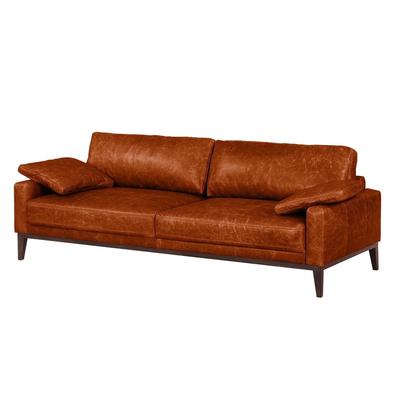 Sofa Horley 3 Sitzer Echtleder Vintage Cognac ars manufacti