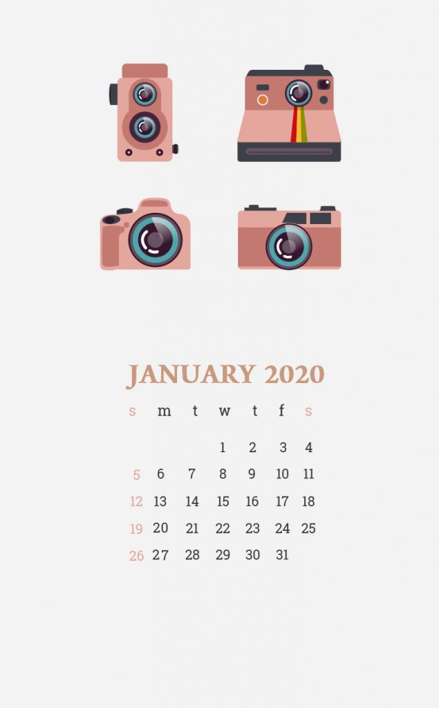 Beautiful January 2020 iPhone Screensaver January