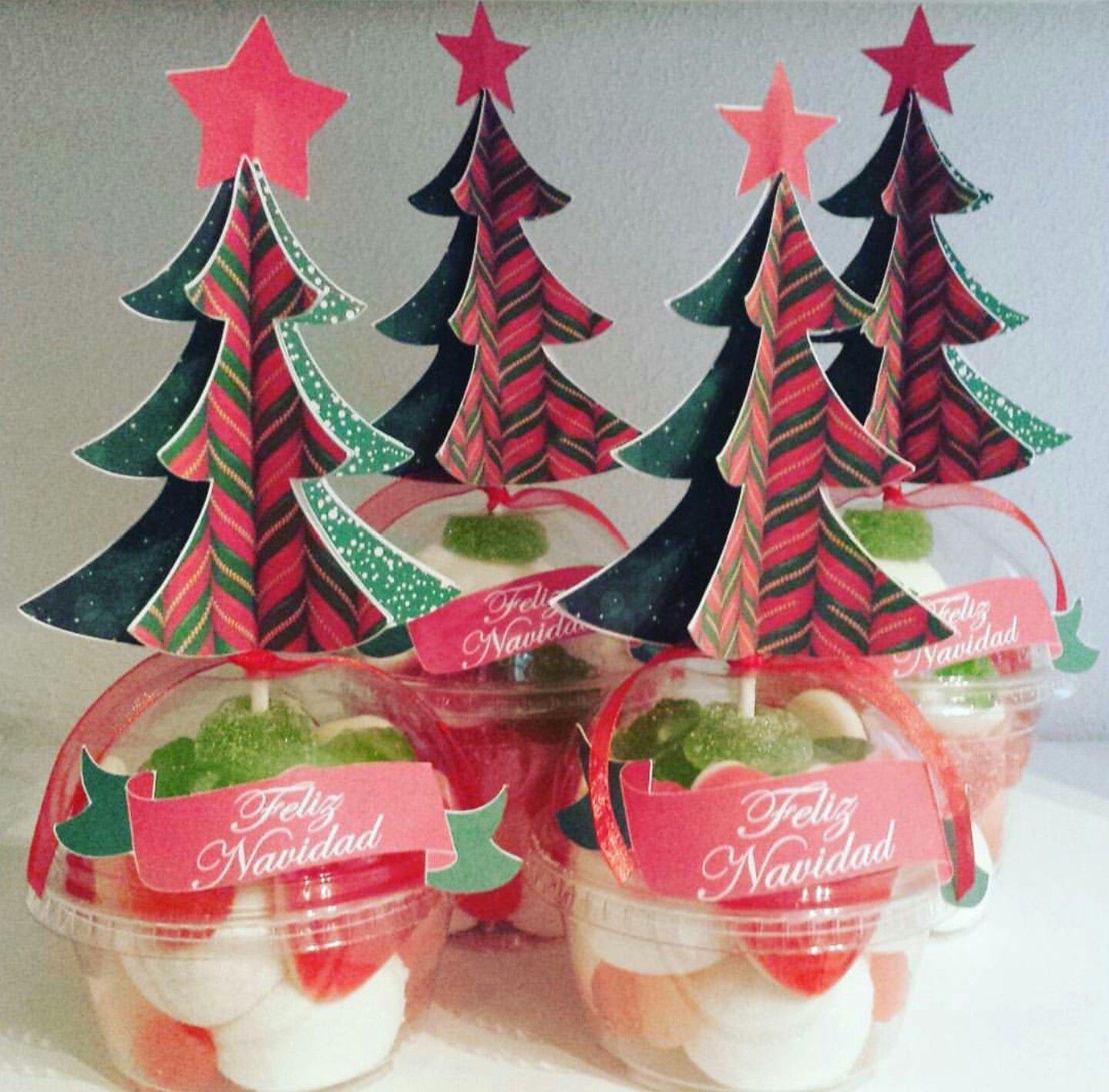 Vasitos de chuches con topper hecho a mano navidad - Regalos navidenos hechos a mano ...