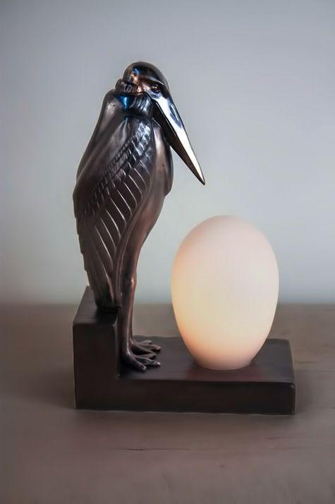 standing pelican deco lamp 475x713 Art Deco Pinterest