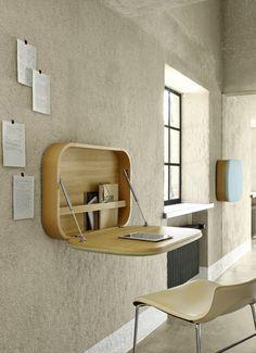 Klappbarer Wandtisch als DIY Schreibtisch für den Laptop benutzen