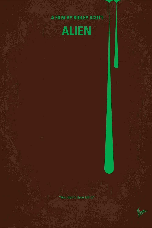 Alien minimal movie poster canvas art print by chungkong
