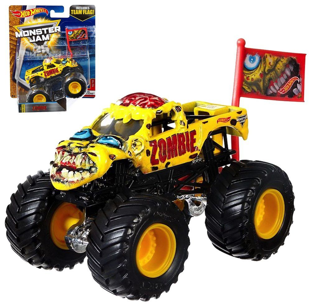 Hot Wheels Monster Jam Zombie Monster Truck With Team Flag You Can Find Out More Details At The Link Of The Image It I With Images Hot Wheels Monster Jam Monster