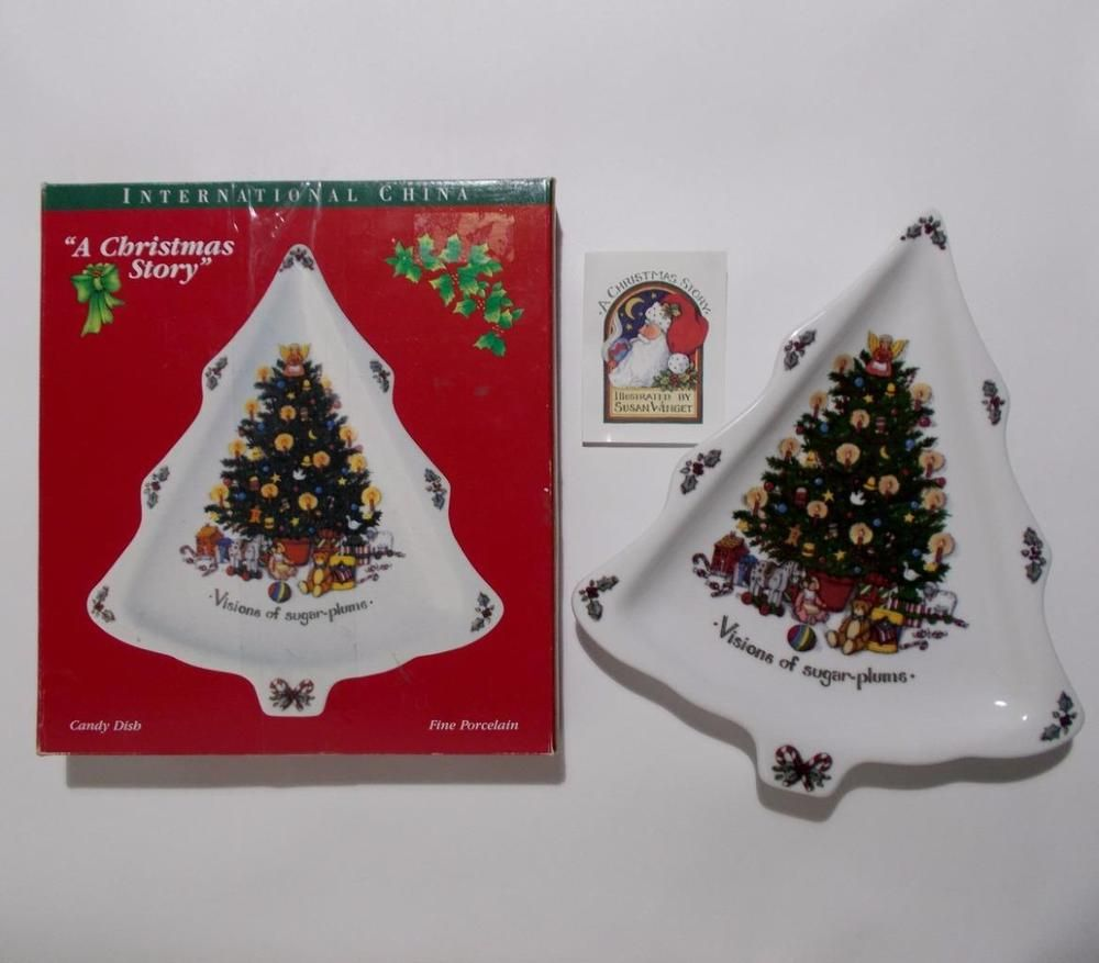 A Christmas Story Tree Porcelain Candy Dish Susan Winget ...