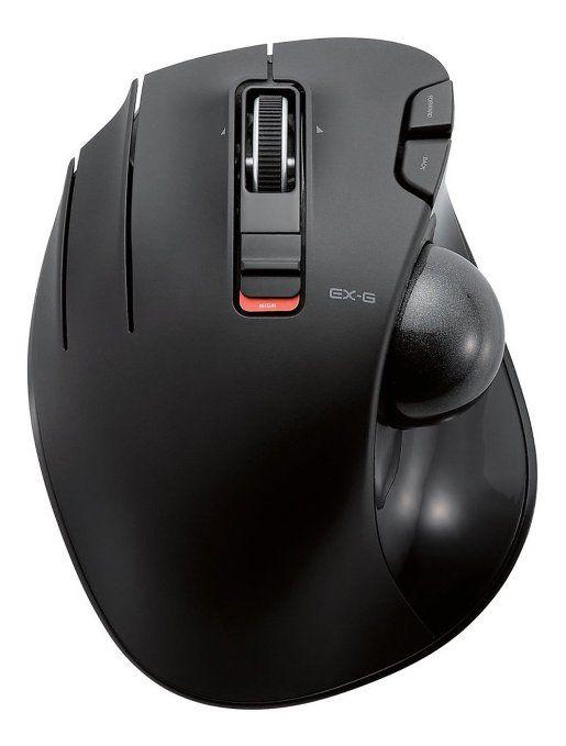 0dc6370598c ELECOM Left-handed Wireless track ball mouse 6 button Tilt function Black M -XT4DRBK