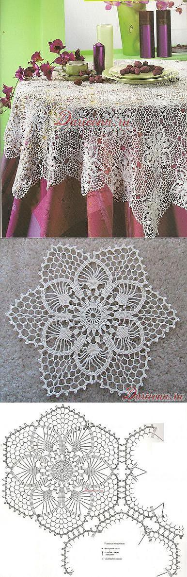 Шестиугольный цветочный мотив, связанный крючком — вдохновение рукодельницы... <3 Deniz <3