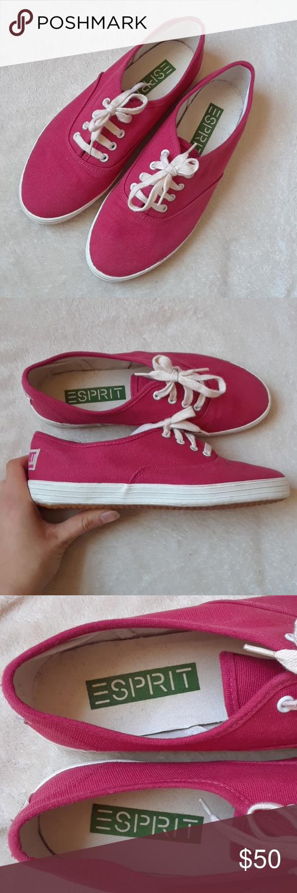 Esprit platform sneakers pink esprit tennis shoes in perfect condition  esprit shoes sneakers png 580x1740 Esprit 2ad0130a5