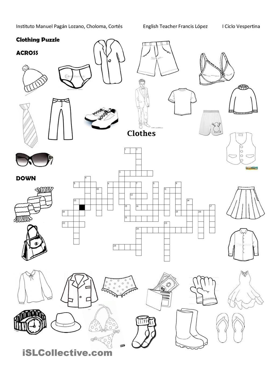 Clothing Puzzle Worksheets Busqueda De Google Google [ 1440 x 1018 Pixel ]