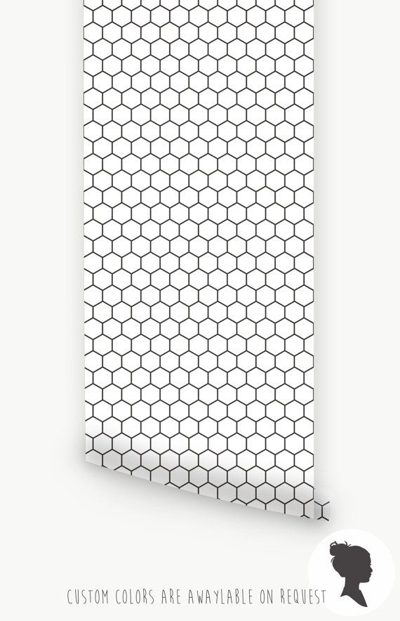 honeycomb removable wallpaper self adhesive or. Black Bedroom Furniture Sets. Home Design Ideas