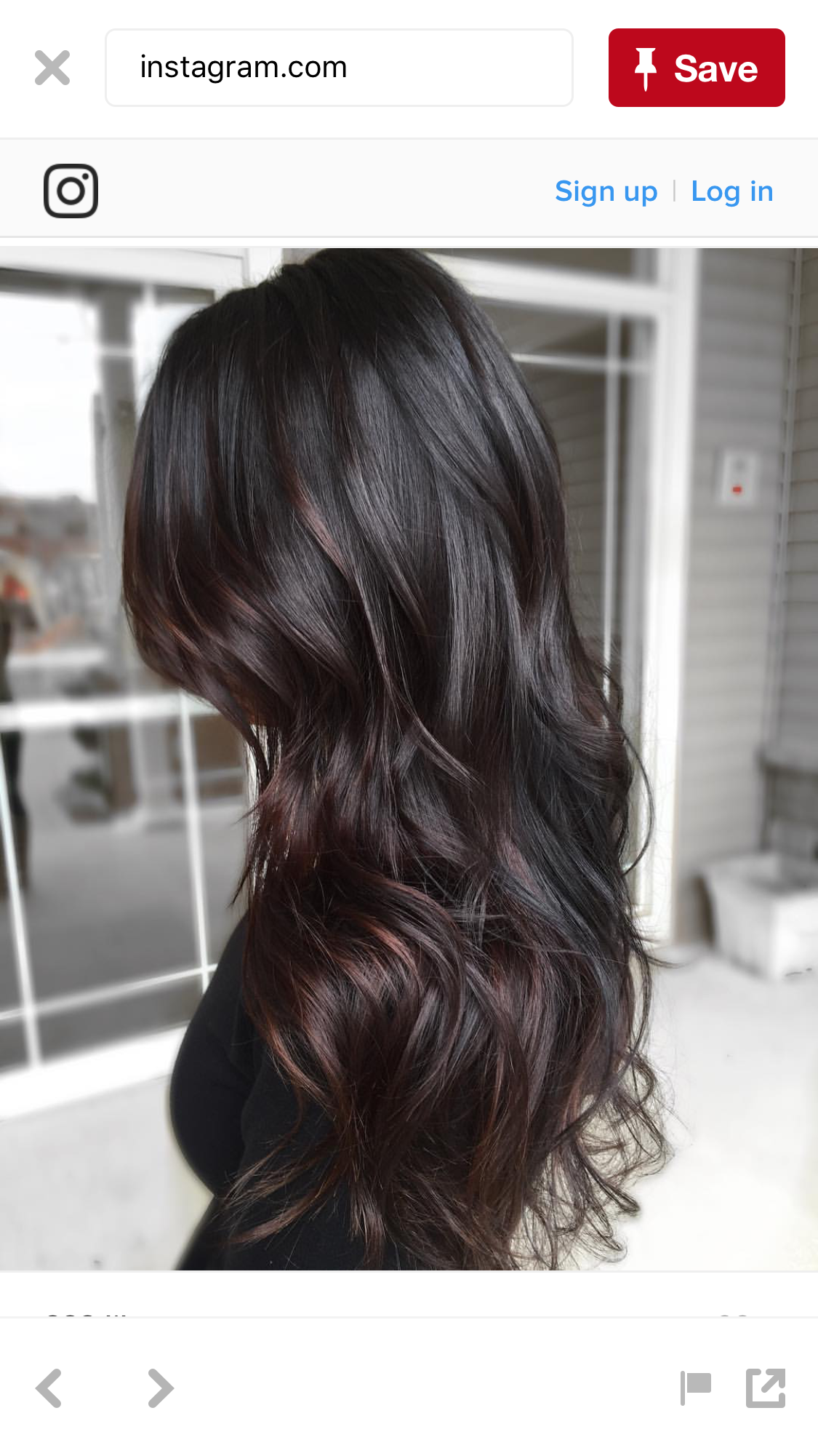 Beautiful——— long dark layers Hair Pinterest