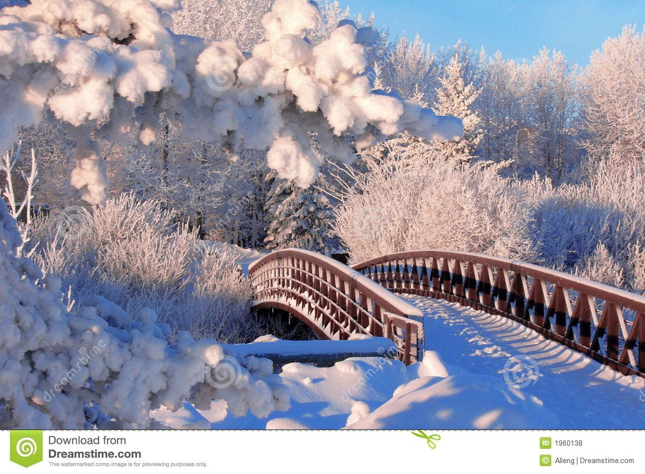 Winter Bridge Royalty Free Stock Photos Image 1960138 Winter