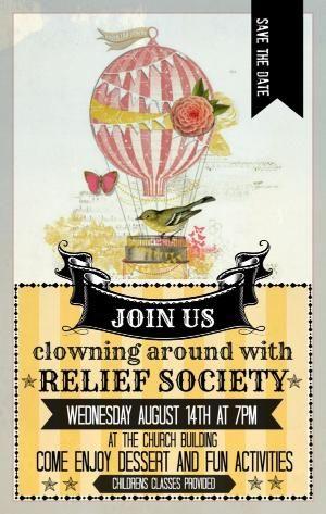 Relief Society Flyer by belinda