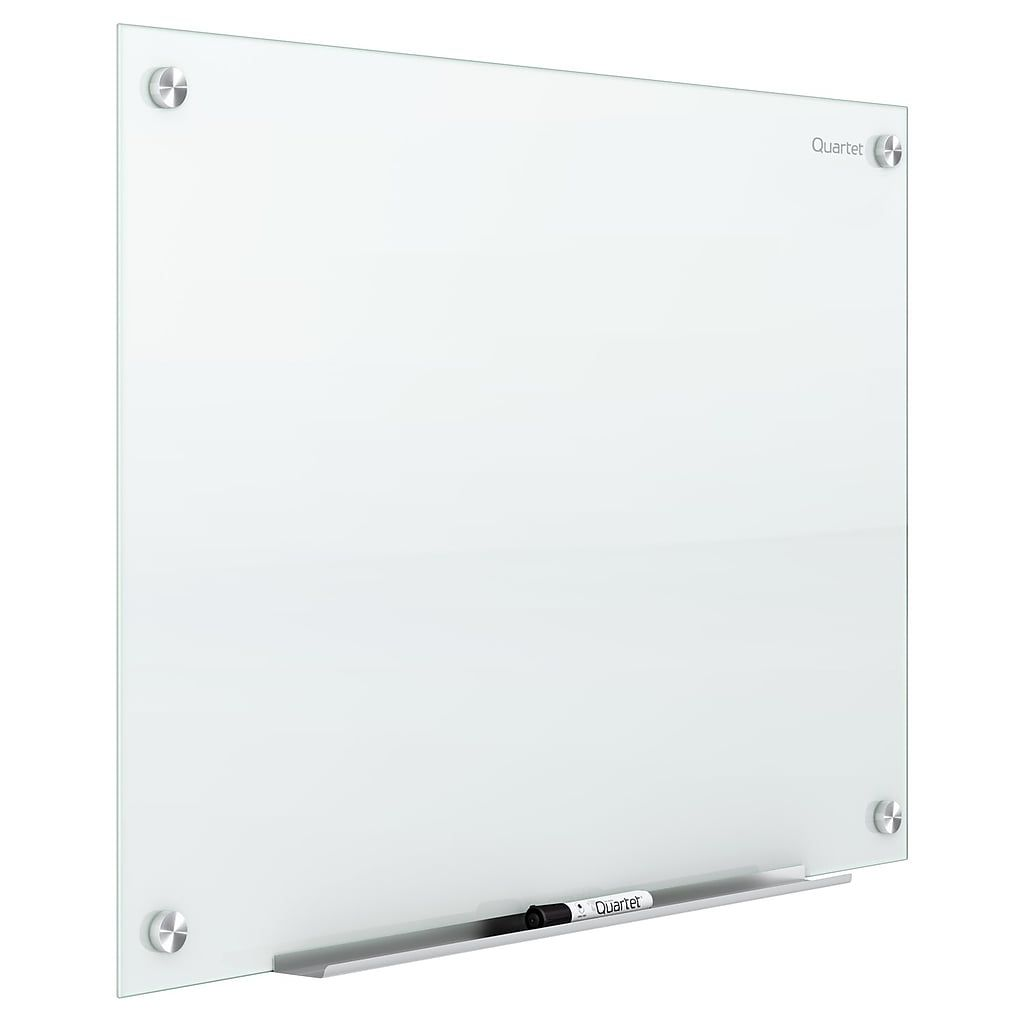 Quartet Infinity Glass Magnetic Marker Board 6 X 4 White Surface Frameless G7248w At Staples In 2020 Marker Board Glass Dry Erase Glass Dry Erase Board