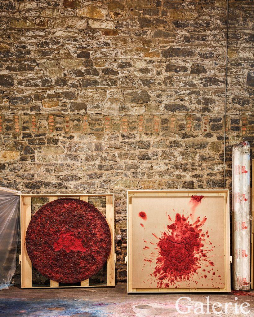 Inside Bosco Sodi S Sprawling Red Hook Studio Galerie Joan Miro Paintings Berlin Gallery Sculptural Object