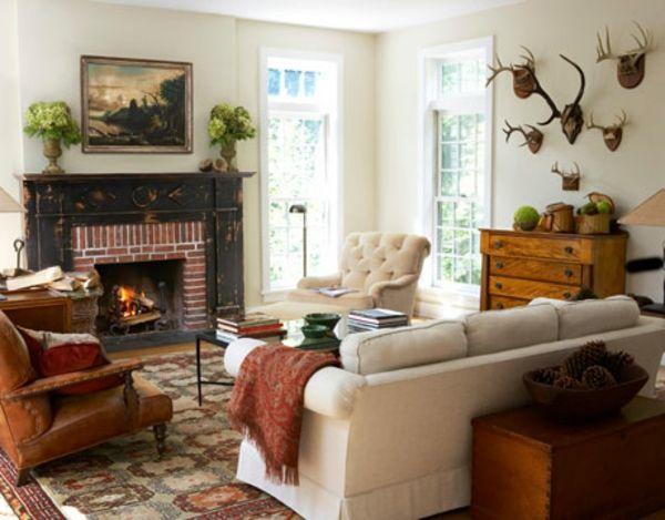 weißes-wohnzimmer-rustikal | wohnideen | pinterest - Wohnideen Wohnzimmer Rustikal
