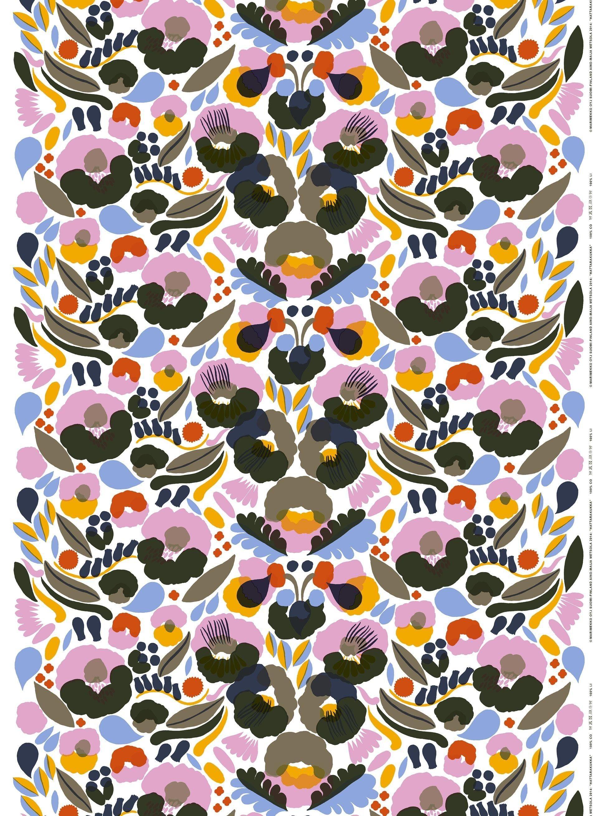 Hattarakukka -paksu puuvilla - Marimekko