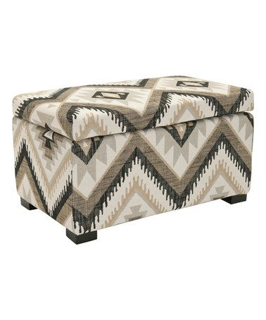 Another great find on #zulily! Geometric Small Dahlia Storage Bench #zulilyfinds