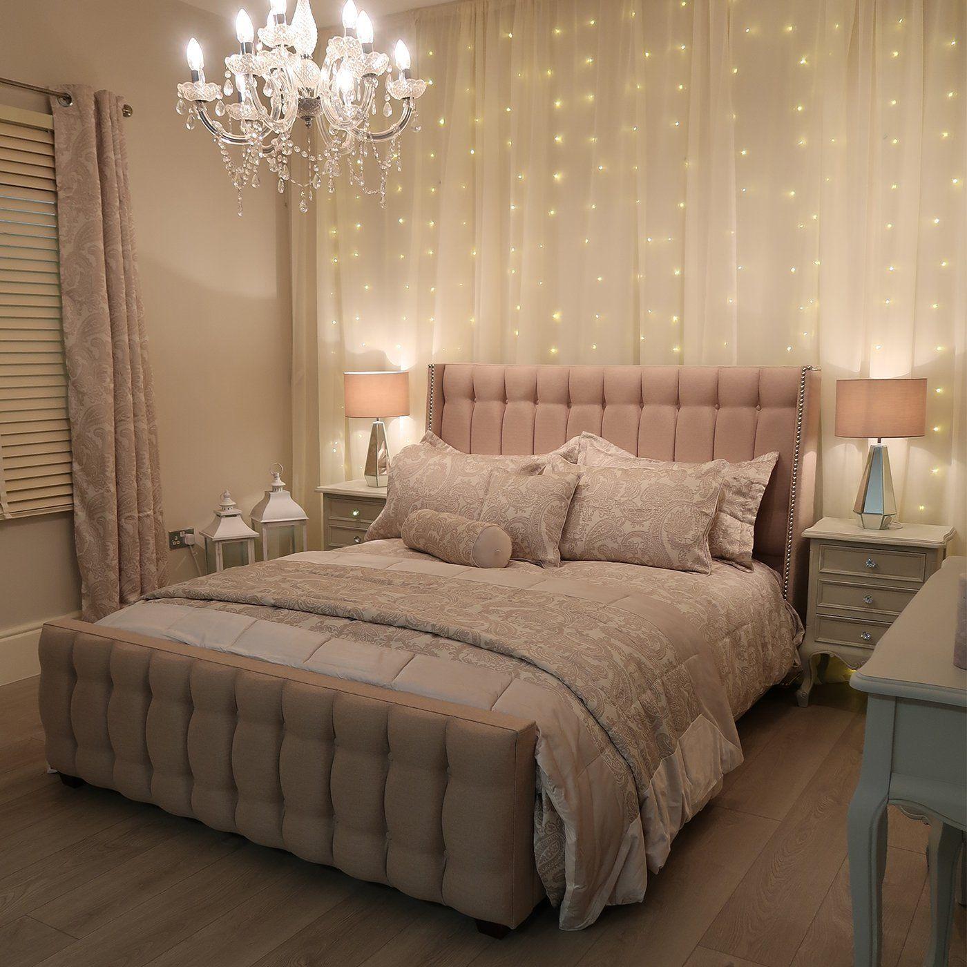 fairy lights bedroom wall