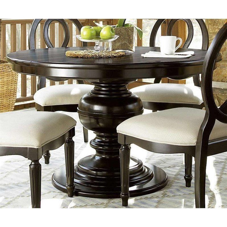Lowest Price Online On All Universal Furniture Summer Hill Round Dining  Table In Midnight   988656
