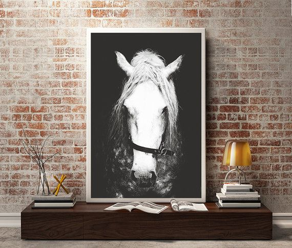 Black & White Horse Photography,Horse Wall Decor,Horse Wall Art