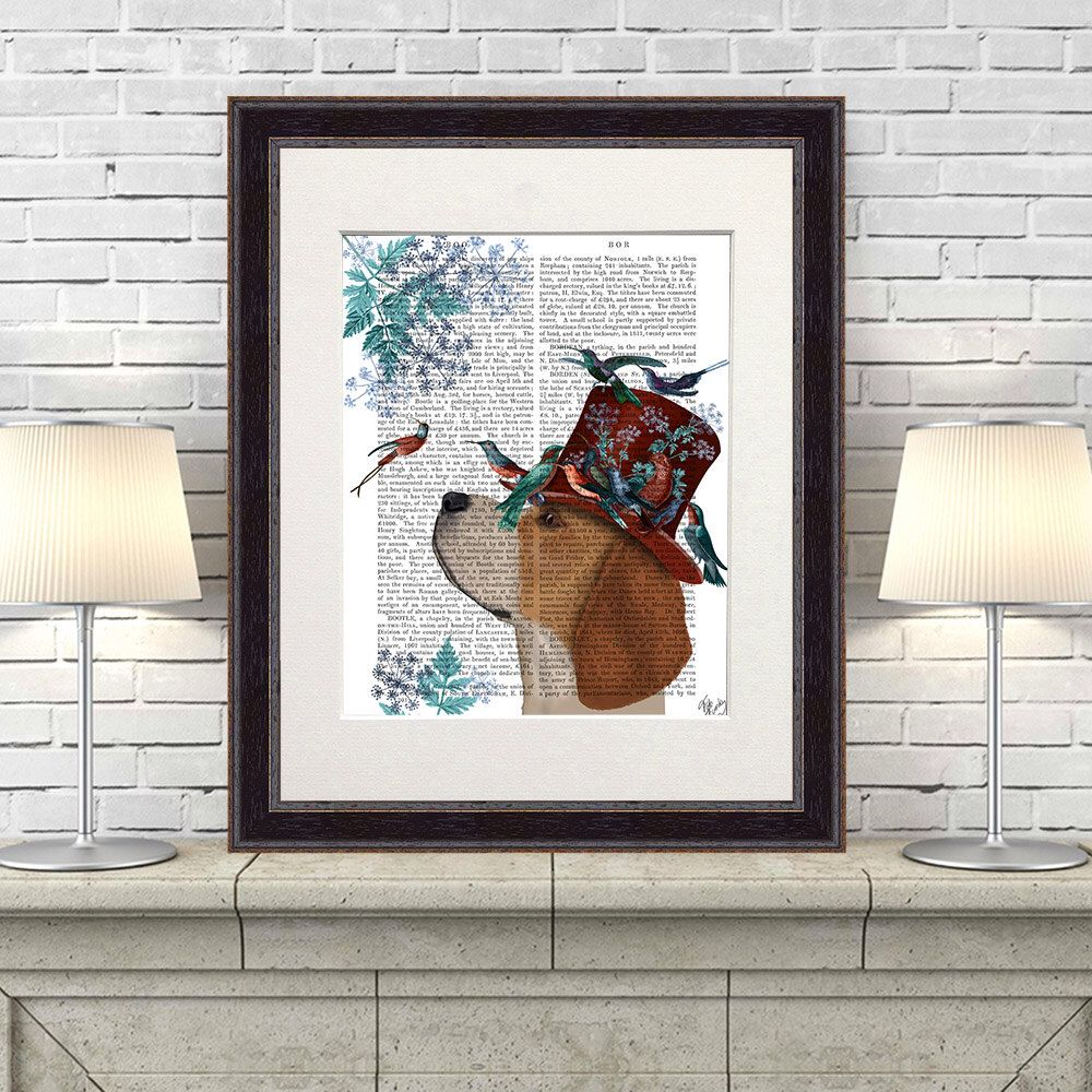 Beagle art milliners dog print beagle print colorful wall art dog