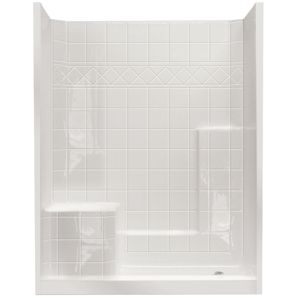 Standard 32 Inch x 60 Inch x 77 Inch - 3 Piece Shower Wall and Base ...