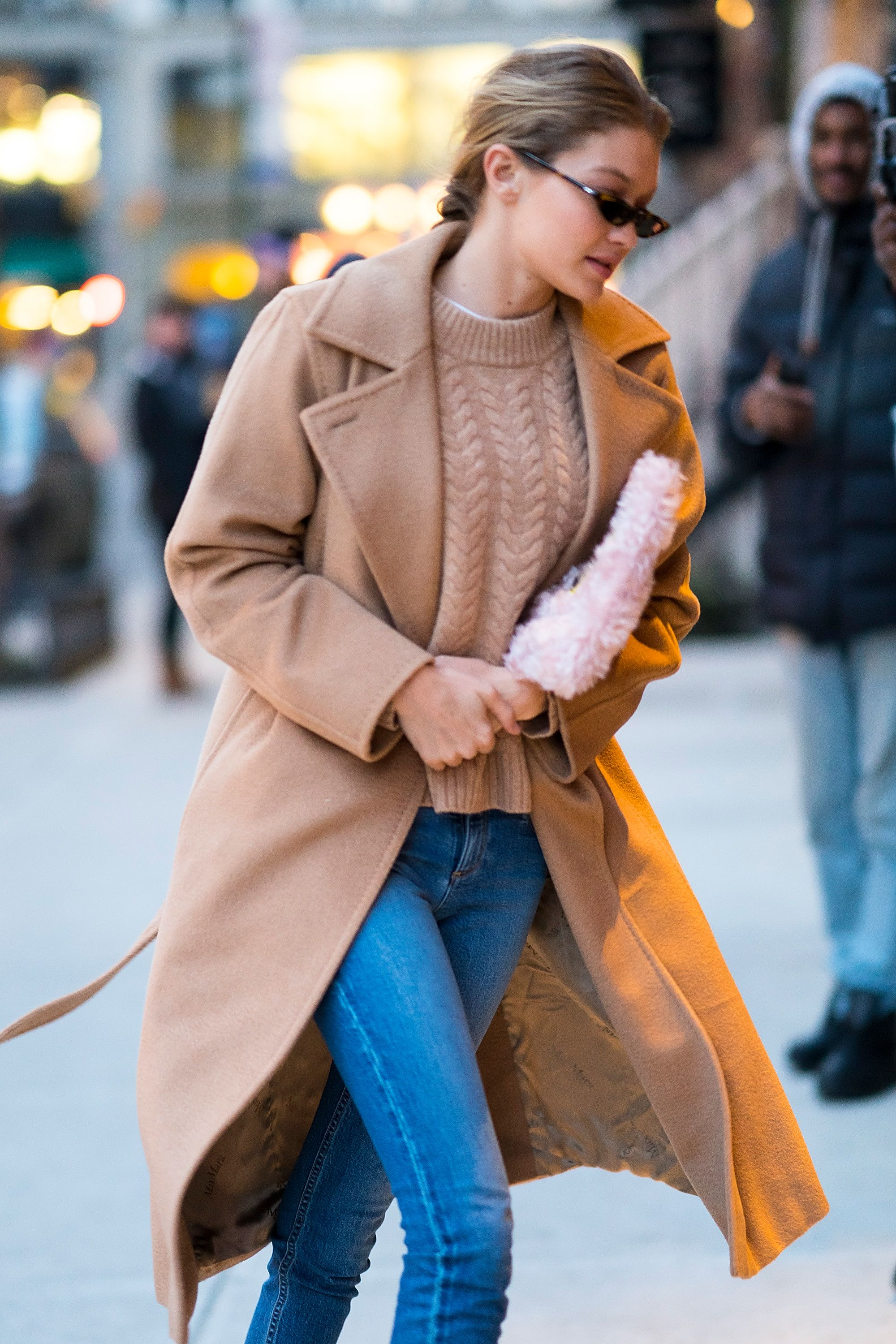 a947a2fad110 The Max Mara Manuela Icon Coat worn by top model Gigi Hadid while out in  New York on January 13th