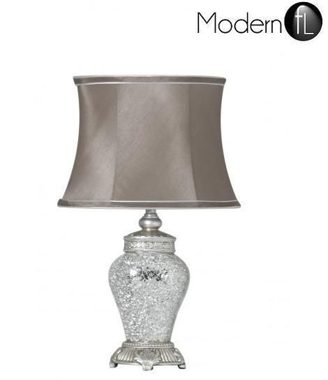 New Antique silver regency lamp silver mirror mosaic bedside table lamp - mirrored table lamp