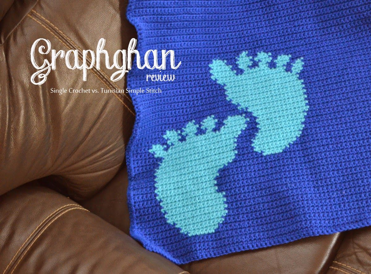 Creating graphghans in single crochet vs. Tunisian simple stitch, an ...