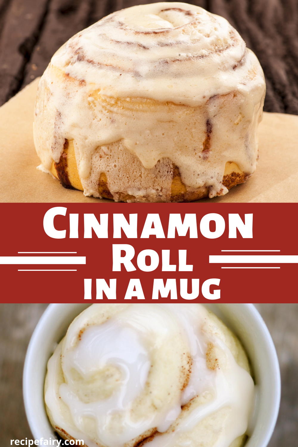 Cinnamon Roll in a Mug #mugcake
