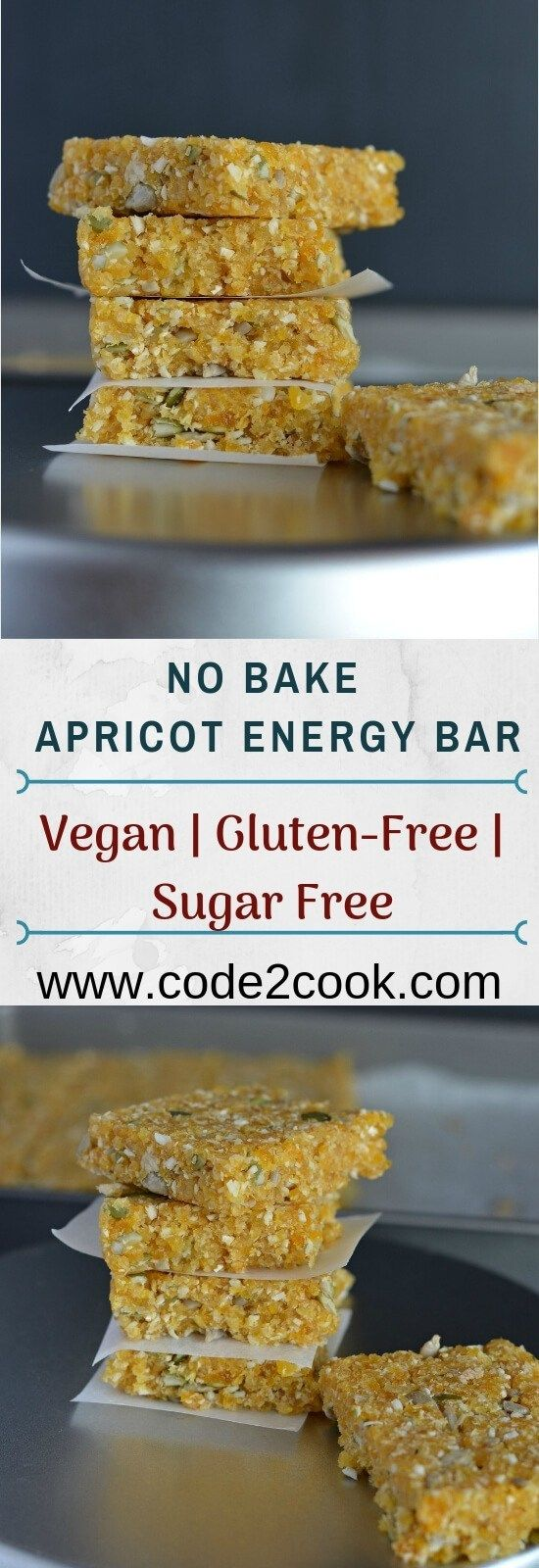 No Bake Apricot Energy Bar Healthy Vegan And Gluten Free
