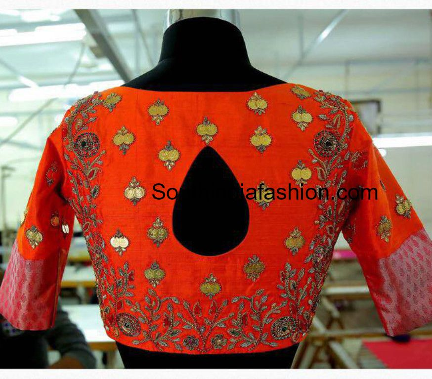 791414c620713 lakshmi kasu embellished blouse designs photo
