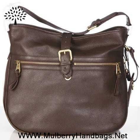 Cheap Womens Mulberry Mabel Leather Hobo Bag Dark Coffee Outlet ...