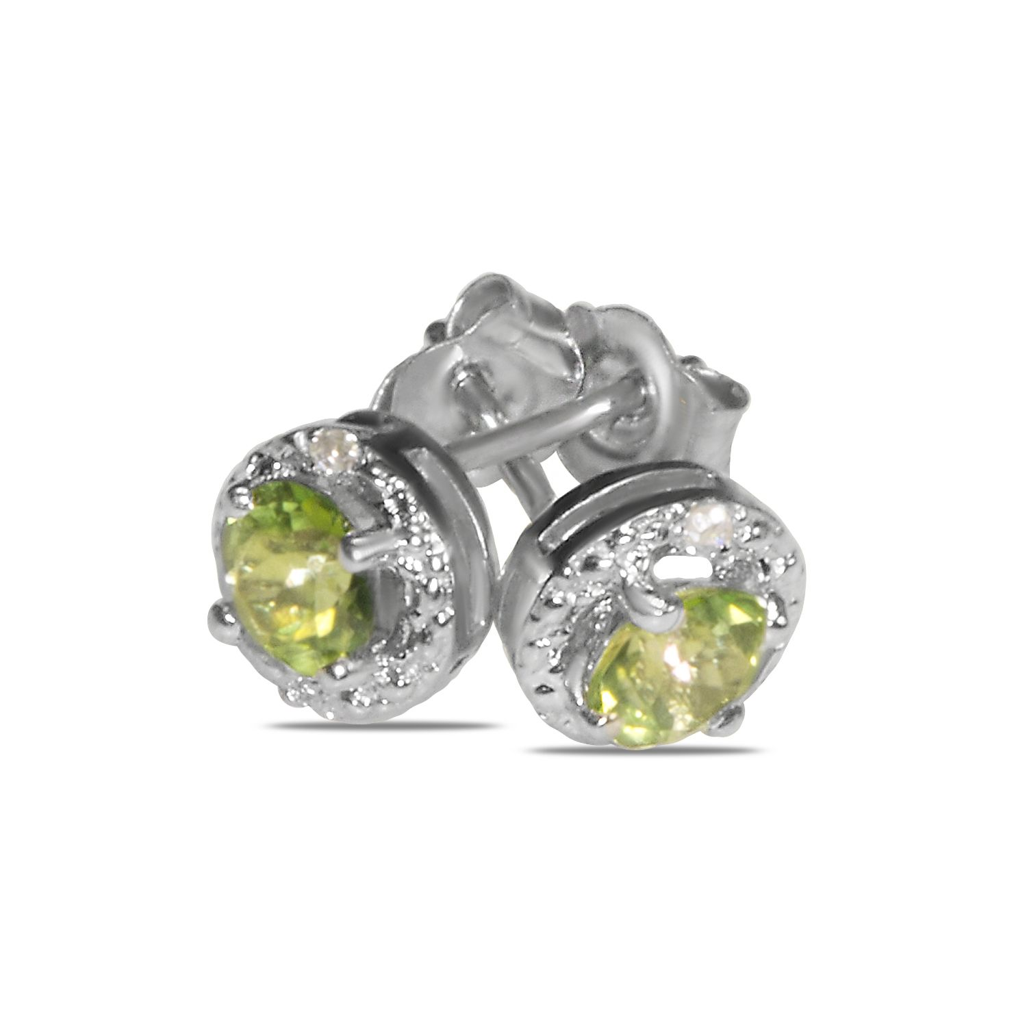Amazon NissoniJewelry presents 02CT Diamond Earrings with Peridot