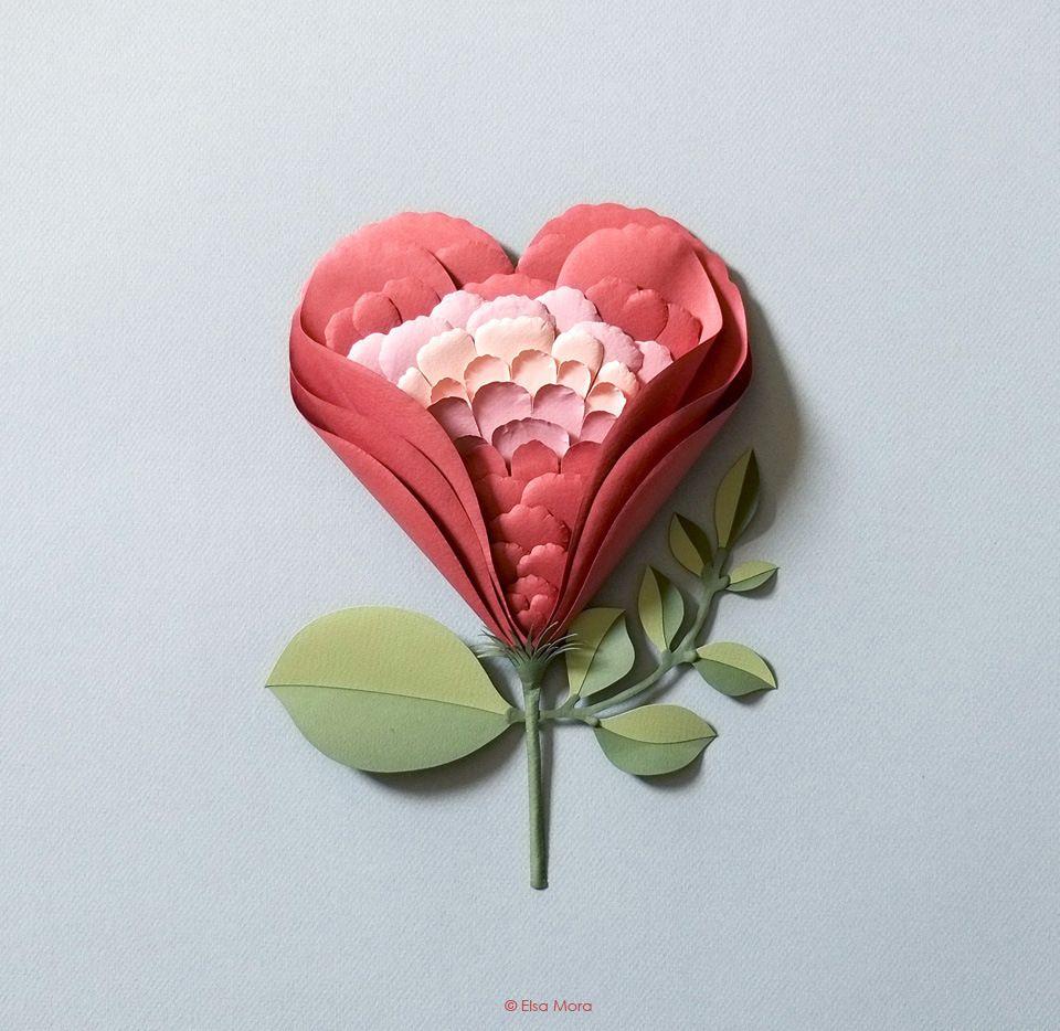 Tutorial Flowerheart Paper Sculpture Httpwww