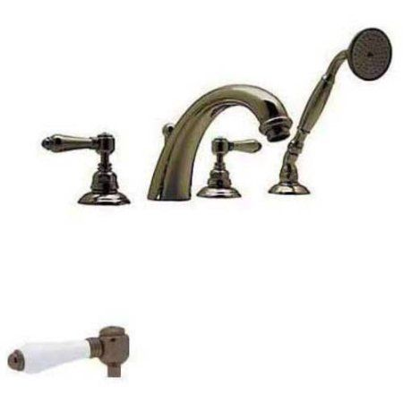 Rohl A2104 Country Bath San Julio Roman Tub Faucet and Single Function Hand Shower, Available in Various Colors, Gold