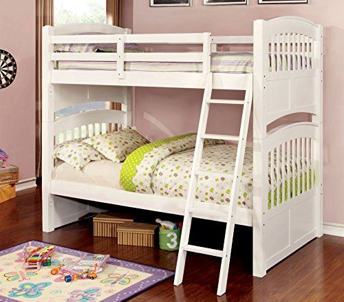 Furniture of America Karlie TwinTwin Bunk Bed White Details can