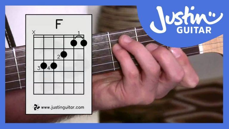 how to play f chord on guitar small hands