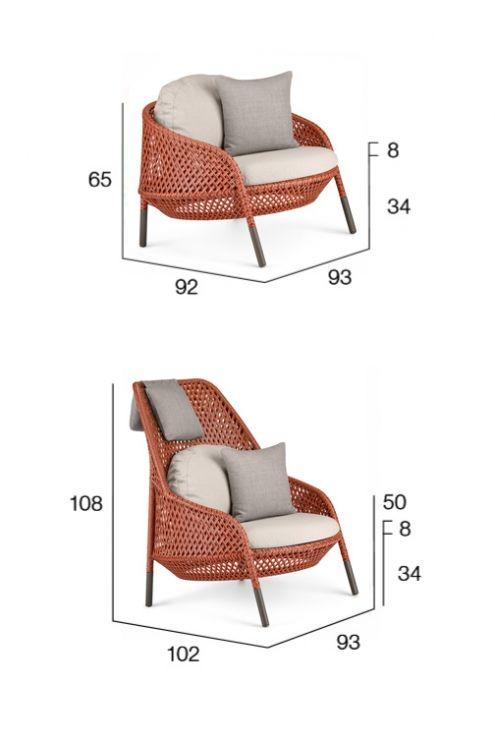 Dedon Ahnda Loungesessel, hochwertige Outdoor Gartenmöbel Lounge von ...