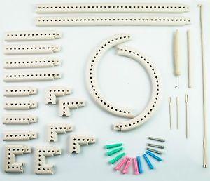 Craft Yarn Multi-Function Knitting Board Knit /& Weave Loom Kit DIY Tool Set